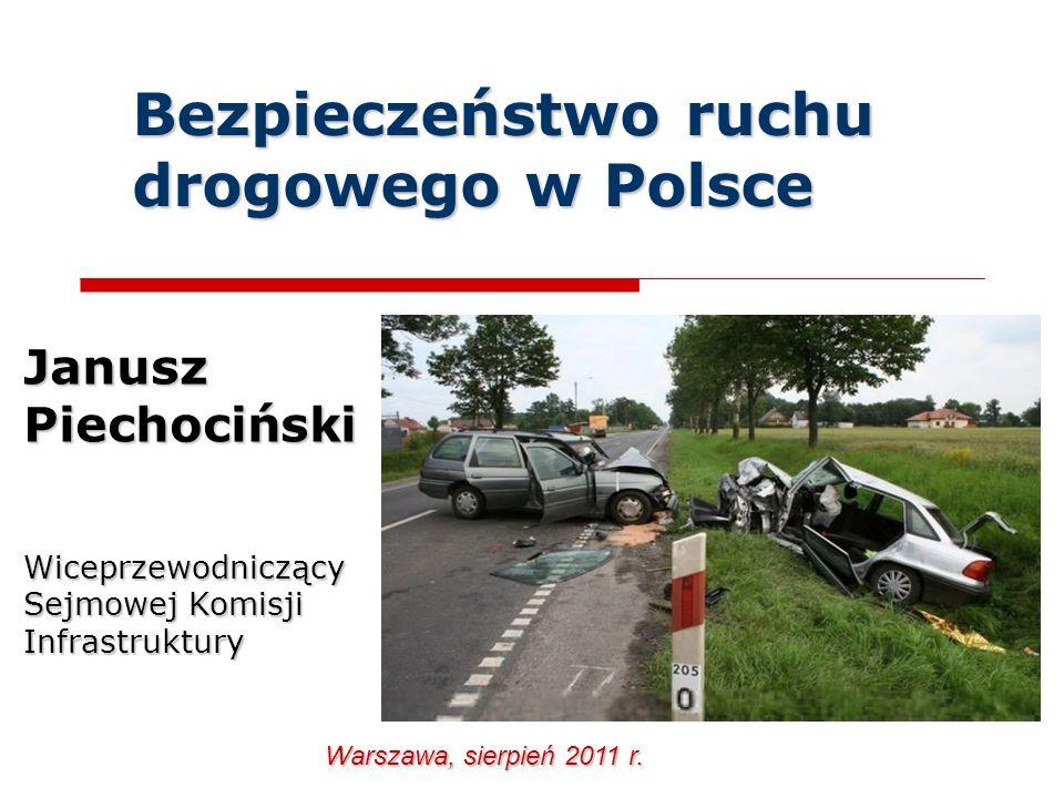 Bezpieczeństwo ruchu drogowego w Polsce Janusz Piechociński Wiceprzewodniczący Sejmowej Komisji Infrastruktury Warszawa, sierpień 2011 r.