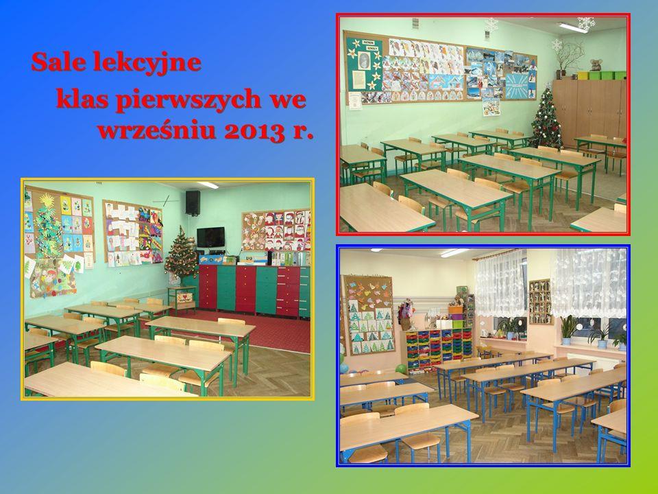 Sale lekcyjne klas pierwszych we wrześniu 2013 r. Sale lekcyjne klas pierwszych we wrześniu 2013 r.