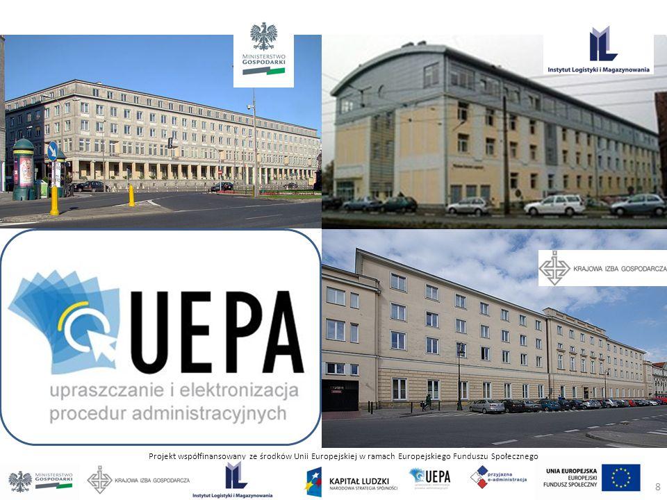 Projekt współfinansowany ze środków Unii Europejskiej w ramach Europejskiego Funduszu Społecznego 8