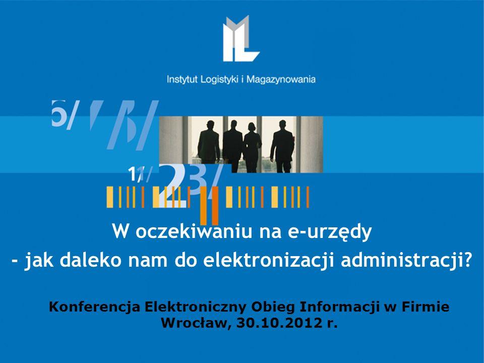 Instytut Logistyki i Magazynowania Instytut Badawczy – I kategoria założyciel – Ministerstwo Gospodarki organizacja krajowa GS1 Polska - od 1990 roku zatrudnienie - 185 pracowników (Konsultanci Project Managerowie, Naukowcy) Misja: Rozwijamy, promujemy i wdrażamy w gospodarce innowacyjne rozwiązania w zakresie logistyki i e-gospodarki