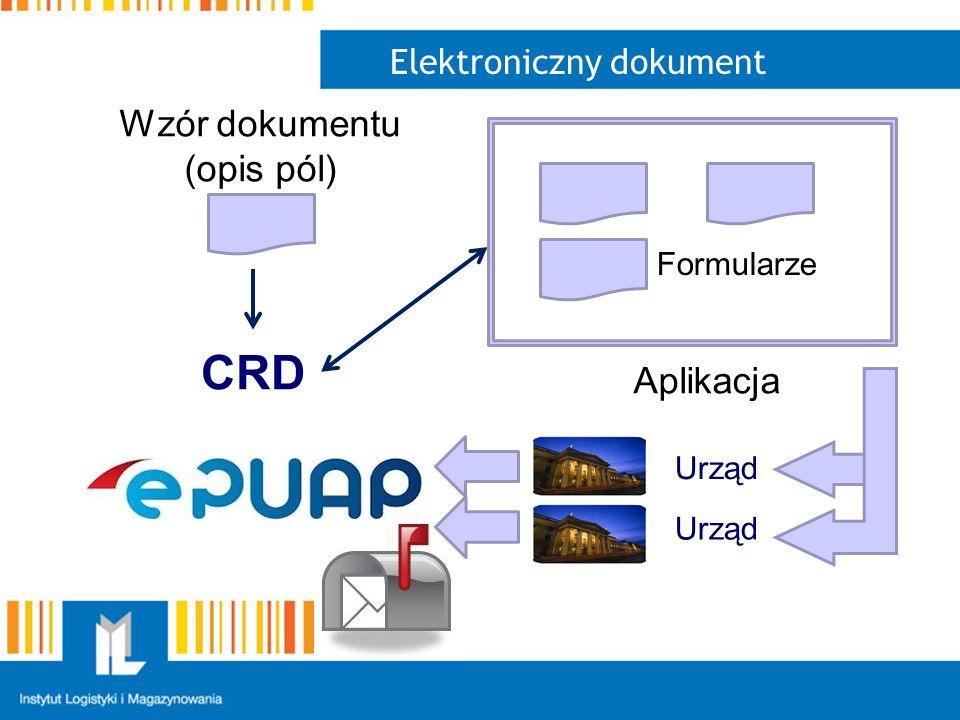 Elektroniczny dokument Wzór dokumentu (opis pól) CRD Formularze Aplikacja Urząd
