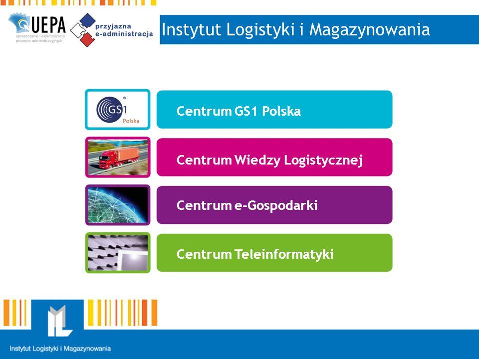 Instytut Logistyki i Magazynowania Centrum GS1 Polska Centrum Wiedzy Logistycznej Centrum e-Gospodarki Centrum Teleinformatyki Centrum GS1 Polska Centrum Wiedzy Logistycznej Centrum e-Gospodarki Centrum Teleinformatyki