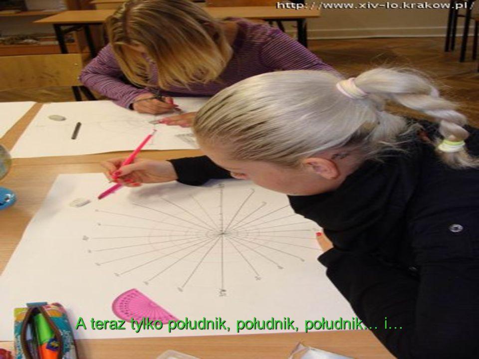 I nie trzeba kopać z pół obrotu, wystarczy sięgnąć po przepiękną naukę – geometrię wykreślną. Kula powoli przenoszona jest na płaszczyznę… Mamy już ró