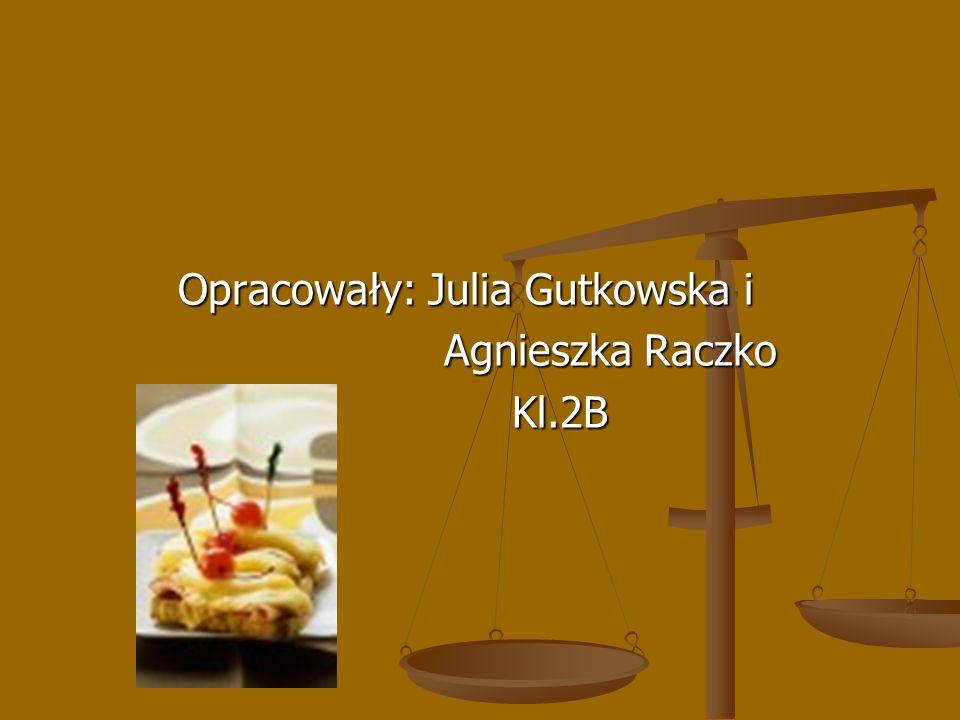 Opracowały: Julia Gutkowska i Agnieszka Raczko Kl.2B Kl.2B