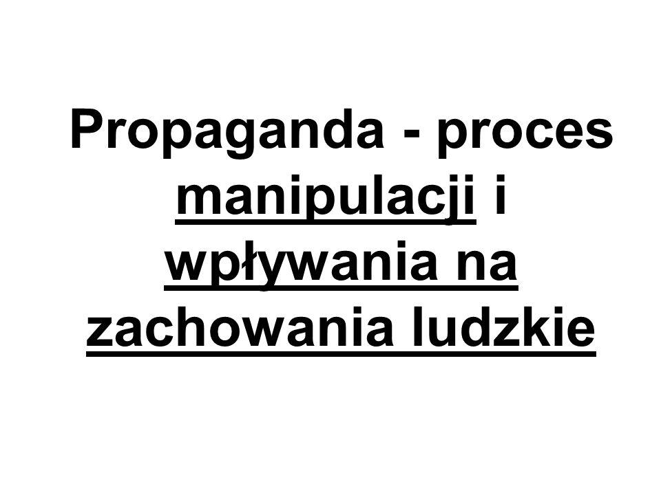 Propaganda - proces manipulacji i wpływania na zachowania ludzkie