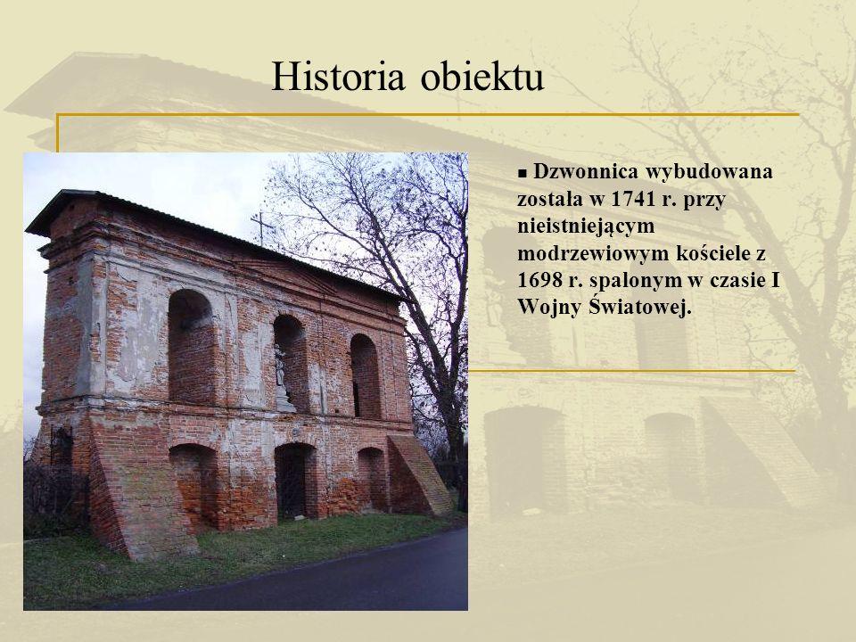 Nowy kościół zlokalizowano w innym miejscu, natomiast dzwonnicę pozostawiono jako wejście na nieistniejący cmentarz przykościelny