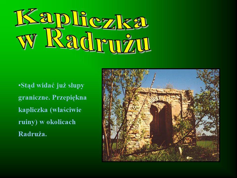 Stąd widać już słupy graniczne. Przepiękna kapliczka (właściwie ruiny) w okolicach Radruża.