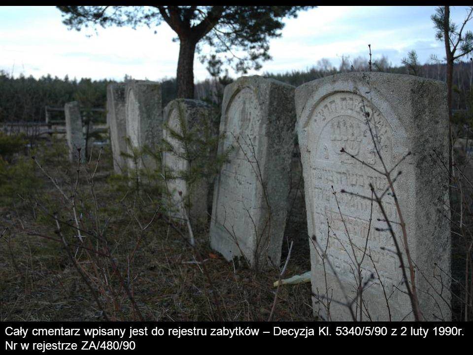 Cały cmentarz wpisany jest do rejestru zabytków – Decyzja Kl. 5340/5/90 z 2 luty 1990r. Nr w rejestrze ZA/480/90