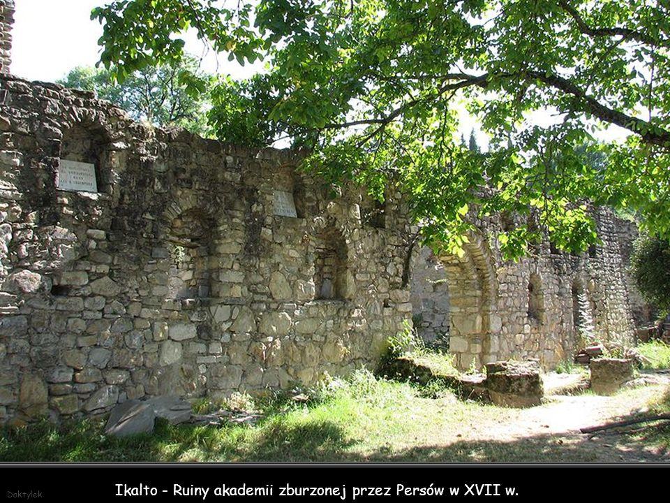 Daktylek Monastyr Ikalto założony w VI wieku