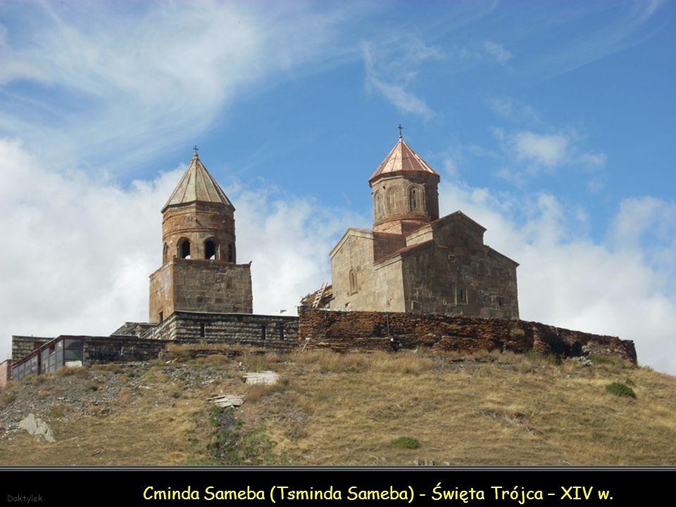 Daktylek Cminda Sameba (Tsminda Sameba) - Święta Trójca - klasztor położony niedaleko wioski Gergeti w północnej Gruzji