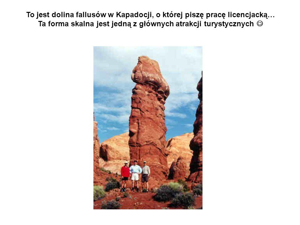To jest dolina fallusów w Kapadocji, o której piszę pracę licencjacką… Ta forma skalna jest jedną z głównych atrakcji turystycznych