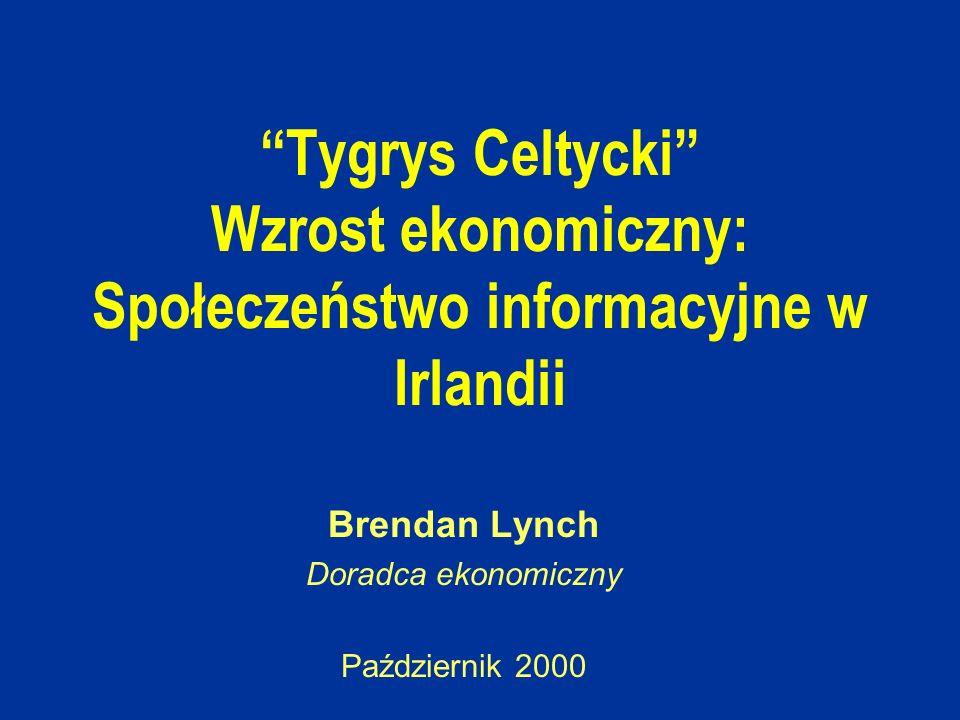 Tygrys Celtycki Wzrost ekonomiczny: Społeczeństwo informacyjne w Irlandii Brendan Lynch Doradca ekonomiczny Październik 2000