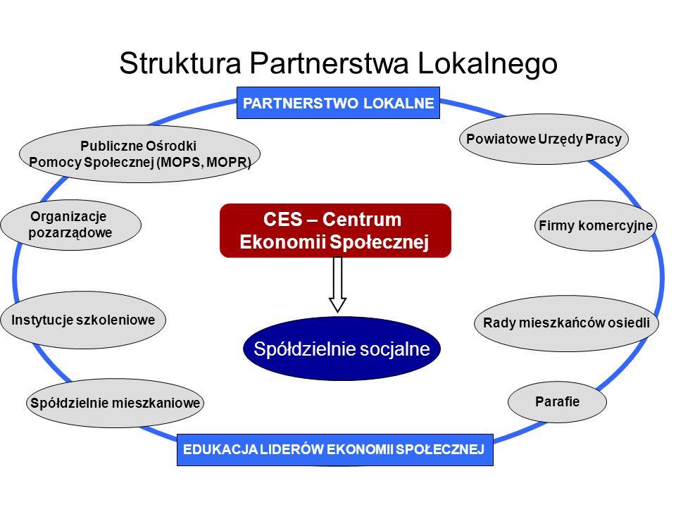 Struktura Partnerstwa Lokalnego Spółdzielnie mieszkaniowe Parafie Rady mieszkańców osiedli Firmy komercyjne Powiatowe Urzędy Pracy Organizacje pozarzą