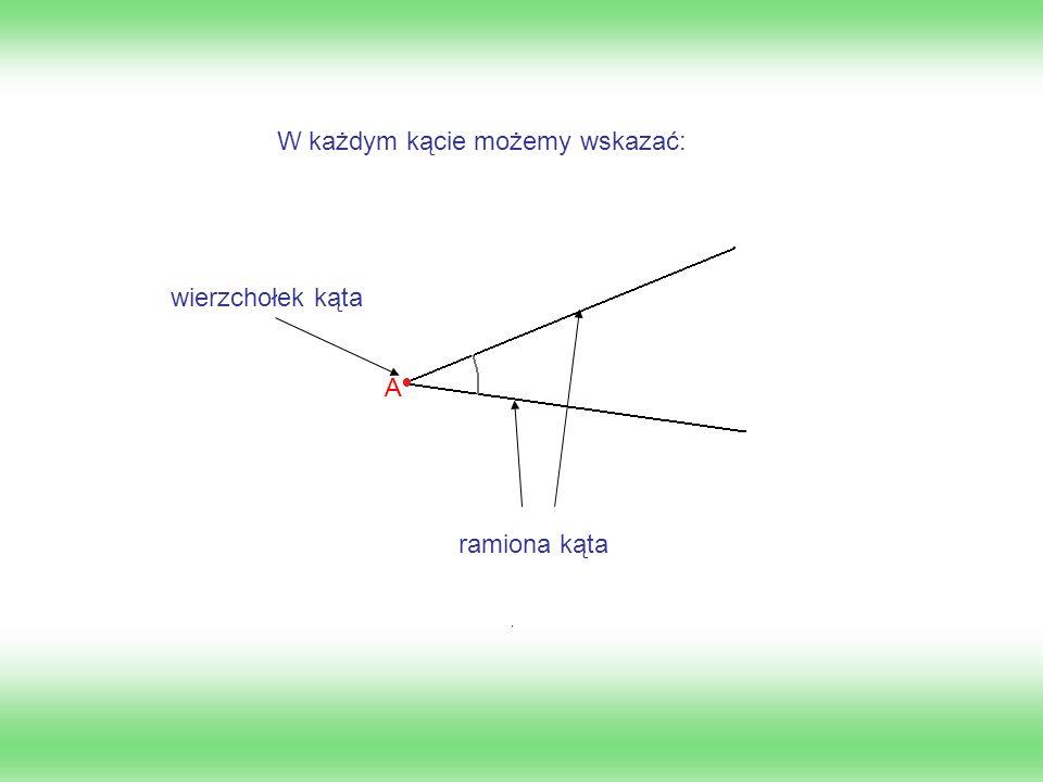 Kąty oznaczamy na dwa sposoby: -używając litery alfabetu greckiego: α, β, γ, δ...