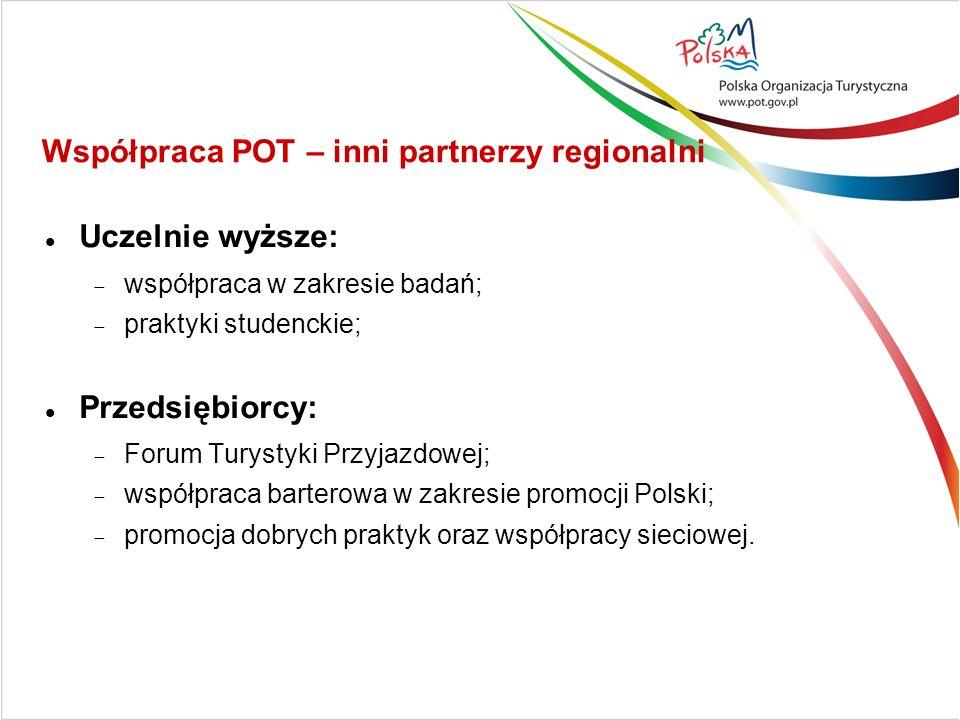 Uczelnie wyższe: współpraca w zakresie badań; praktyki studenckie; Przedsiębiorcy: Forum Turystyki Przyjazdowej; współpraca barterowa w zakresie promocji Polski; promocja dobrych praktyk oraz współpracy sieciowej.