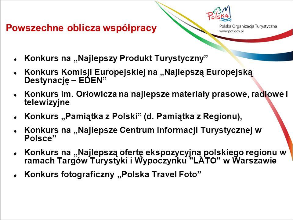 Powszechne oblicza współpracy Konkurs na Najlepszy Produkt Turystyczny Konkurs Komisji Europejskiej na Najlepszą Europejską Destynację – EDEN Konkurs im.