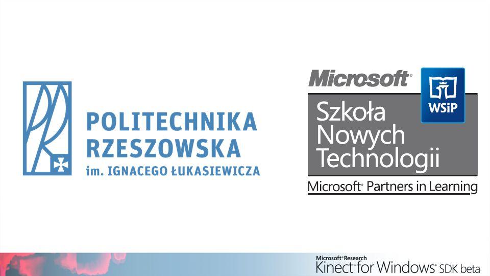 Pobierz i zainstaluj następujące rzeczy: Kinect for Windows SDK v1.5 Kinect for Windows Developer Toolkit Dostępne na: http://www.kinectforwindows.org