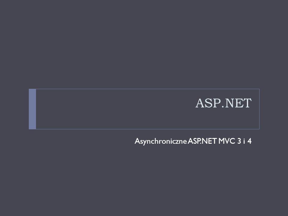 ASP.NET Asynchroniczne ASP.NET MVC 3 i 4