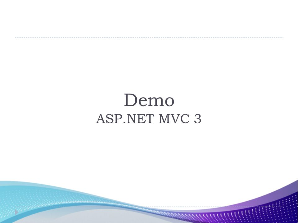 Demo ASP.NET MVC 3