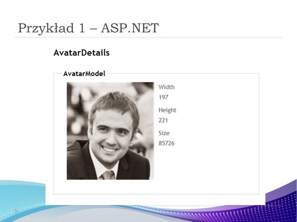Przykład 1 – ASP.NET