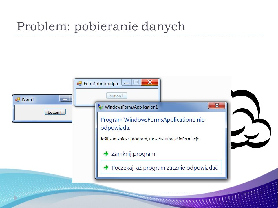 Przekształcamy … public interface IEnumerableDual { IDisposable SetEnumerator( IEnumerator ); } public interface IEnumerator { T GetCurrent (void); (true | false | Exception) MoveNext(void); }