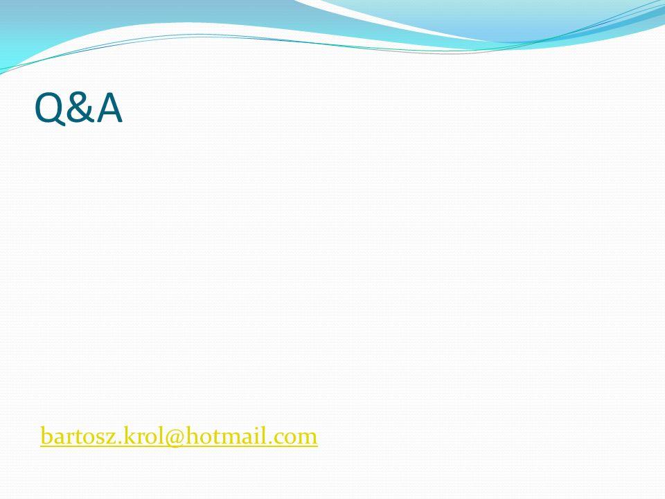 Q&A bartosz.krol@hotmail.com