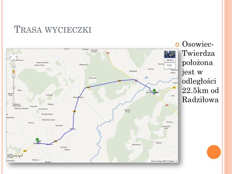 C HARAKTERYSTYKA TWIERDZY Twierdza Osowiec powstała w latach 1882 – 1887, a modernizowana była do roku 1914 W skład twierdzy wchodziły 4 forty: Centralny – fort nr 1, Zarzeczny – fort nr 2, Szwedzki – fort nr 3 i Nowy – fort nr 4 Jest to typowa twierdza zaporowa usytuowana w zwężeniu bagien biebrzańskich, która miała stanowić osłonę kolei i szlaku komunikacyjnego Białystok – Królewiec.