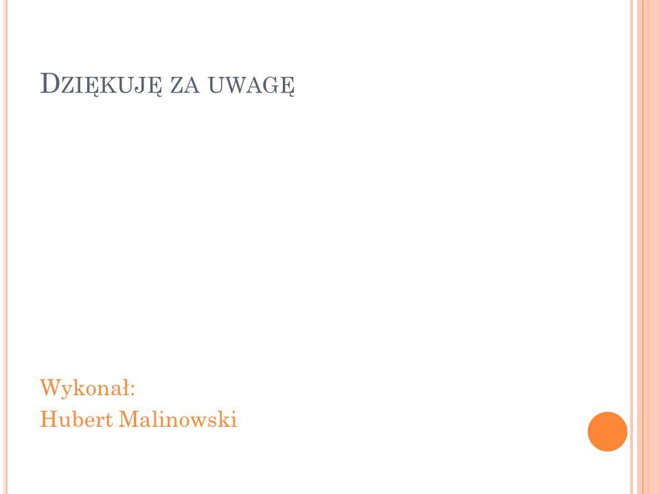 D ZIĘKUJĘ ZA UWAGĘ Wykonał: Hubert Malinowski