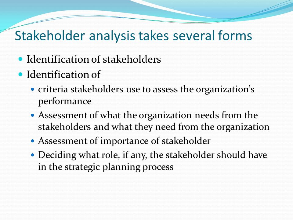 Stakeholder analysis--Lazarski Internal External