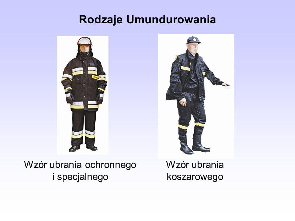 Zachowanie w Mundurze Strażak w mundurze powinien być zawsze ubrany zgodnie z regulaminem umundurowania Strażakom OSP nie wolno nosić: części umundurowania w połączeniu z ubiorem cywilnym, odzieży specjalnej w miejscach publicznych, o ile nie wynika to z obowiązków służbowych, przedmiotów wypychających kieszenie munduru, innych przedmiotów niż przewiduje dany ubiór.