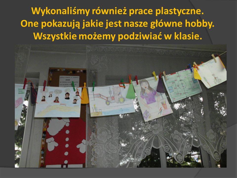 Wykonaliśmy również prace plastyczne.One pokazują jakie jest nasze główne hobby.