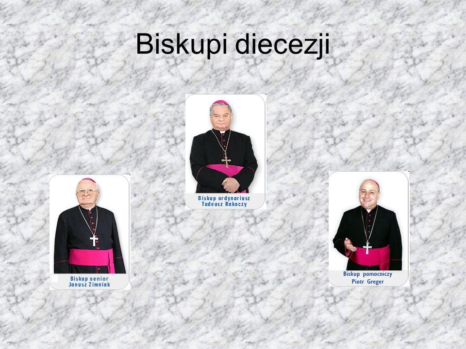 Patroni diecezji Św. Maksymilian Maria Kolbe Św. Jan Kanty Św. Jan Sarkander