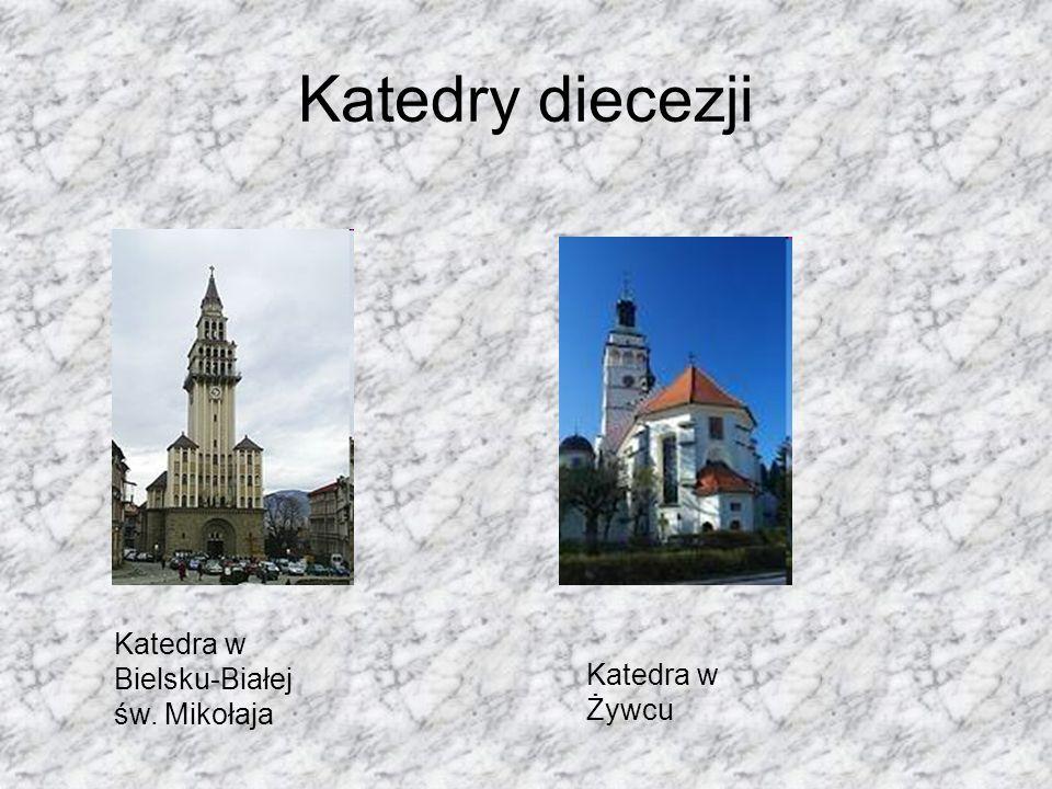 Katedry diecezji Katedra w Bielsku-Białej św. Mikołaja Katedra w Żywcu