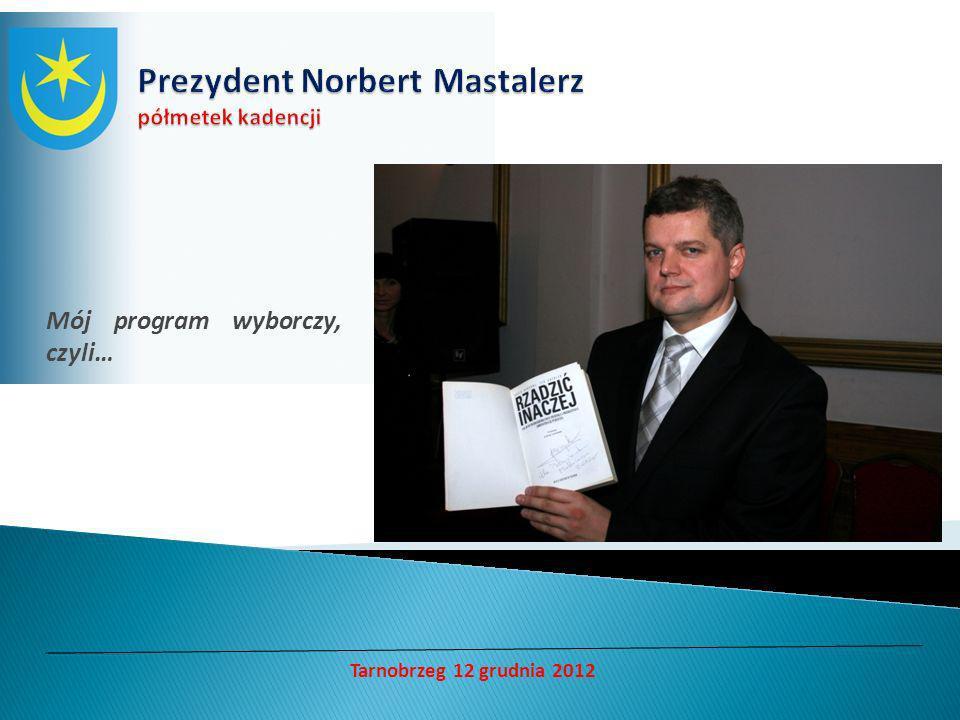 Mój program wyborczy, czyli… Tarnobrzeg 12 grudnia 2012