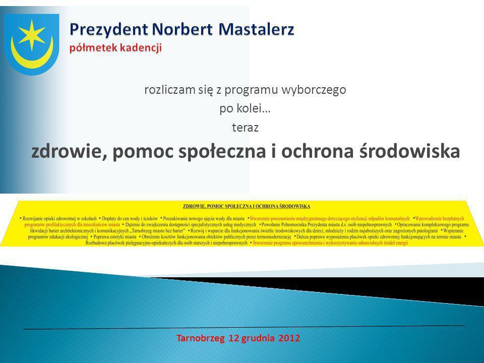 rozliczam się z programu wyborczego po kolei… teraz samorząd Tarnobrzeg 12 grudnia 2012