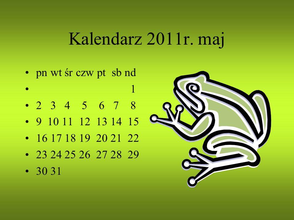 Kalendarz 2011r. kwiecień pn wt śr czw pt sb nd 1 2 3 4 5 6 7 8 9 10 11 12 13 14 15 16 17 18 19 20 21 22 23 24 25 26 27 28 29 30