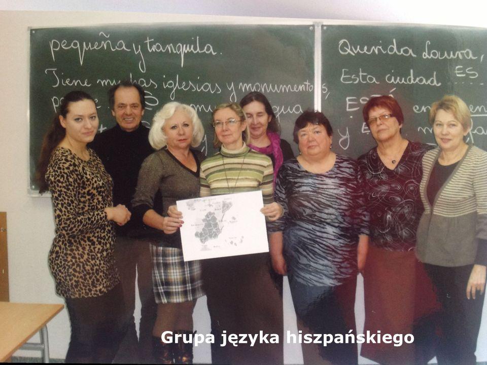II GRUPY JĘZYKA HISZPAŃSKIEGO KIEROWNICY GRUP: G. MAKARA, B. NOWICKA - LASSOTA LEKTOR: A. LOCHMAN - Już od dwóch odbywają się zajęcia z języka hiszpań