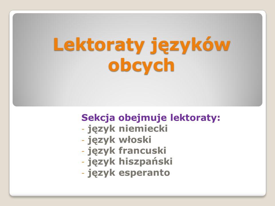 Rok działalności Sekcji Języków Obcych UTW Rzeszów - Opracowała: - MARIA SIERŻĘGA – koordynator
