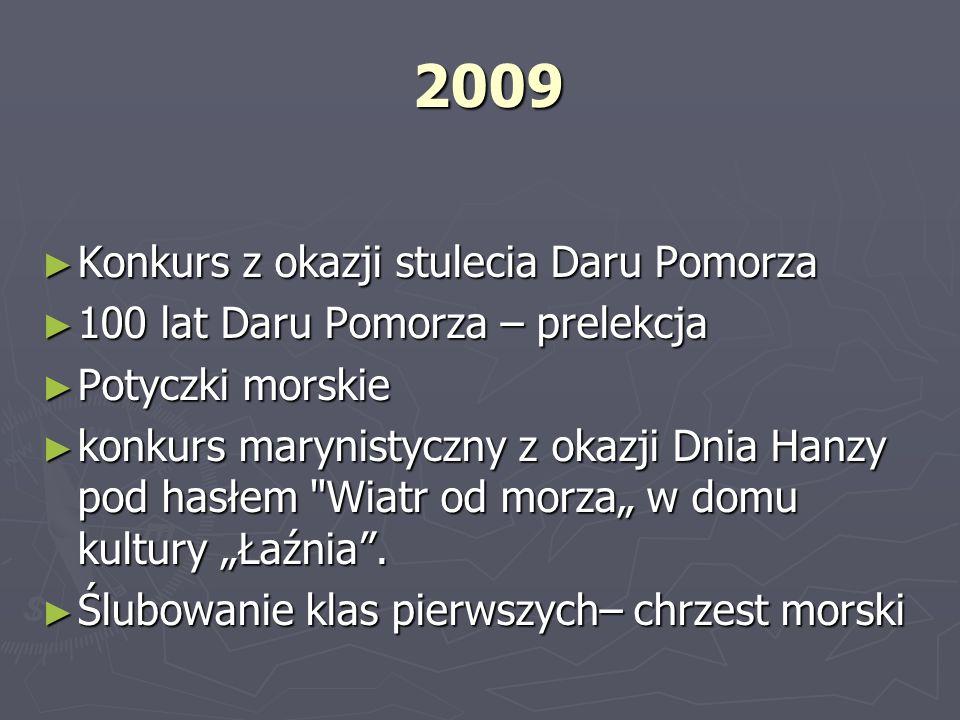 2009 2009 Konkurs z okazji stulecia Daru Pomorza Konkurs z okazji stulecia Daru Pomorza 100 lat Daru Pomorza – prelekcja 100 lat Daru Pomorza – prelek