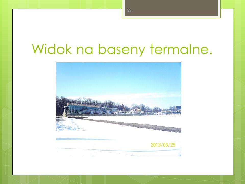 Widok na baseny termalne. 11