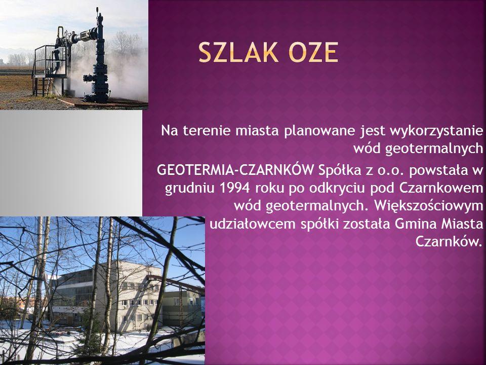 Na terenie miasta planowane jest wykorzystanie wód geotermalnych GEOTERMIA-CZARNKÓW Spółka z o.o. powstała w grudniu 1994 roku po odkryciu pod Czarnko