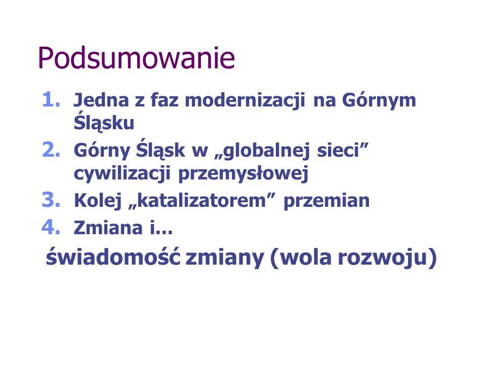 Podsumowanie 1. Jedna z faz modernizacji na Górnym Śląsku 2.