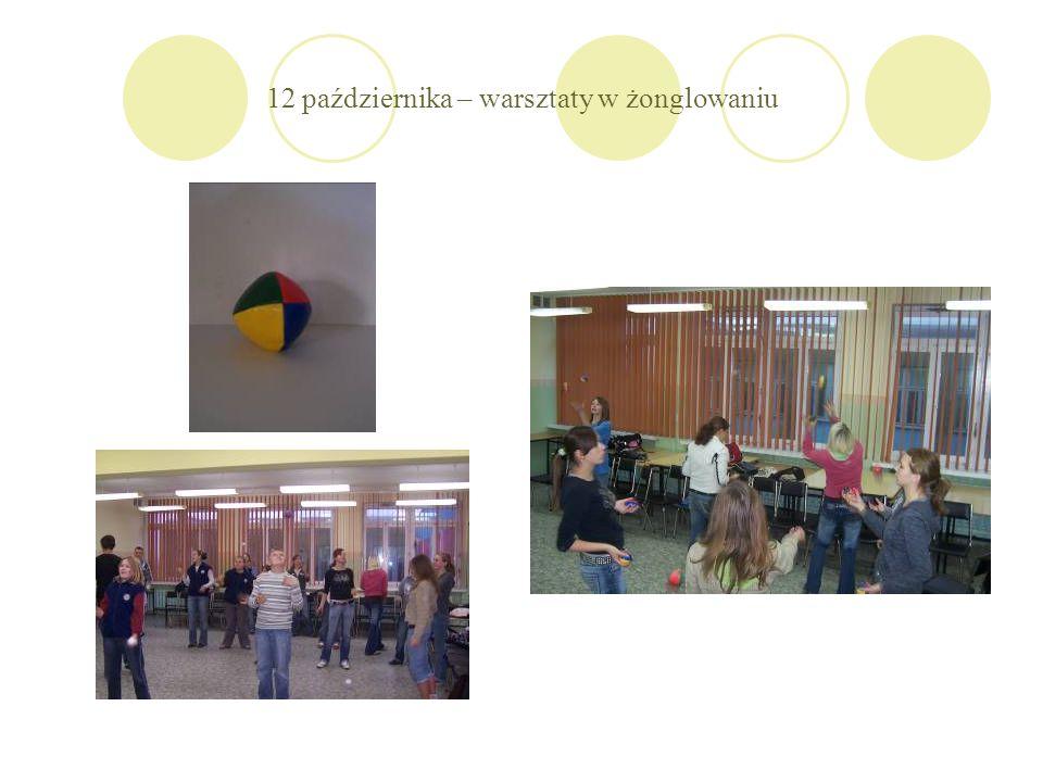 12 października – warsztaty w żonglowaniu