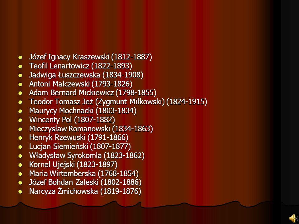 Inni Pisarze i poeci okresu romantyzmu: Feliks Bernatowicz (1786-1836) Feliks Bernatowicz (1786-1836) Ryszard Berwiński (1819-1879) Ryszard Berwiński