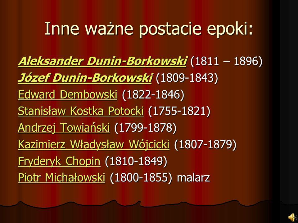 Józef Ignacy Kraszewski (1812-1887) Józef Ignacy Kraszewski (1812-1887) Teofil Lenartowicz (1822-1893) Teofil Lenartowicz (1822-1893) Jadwiga Łuszczew