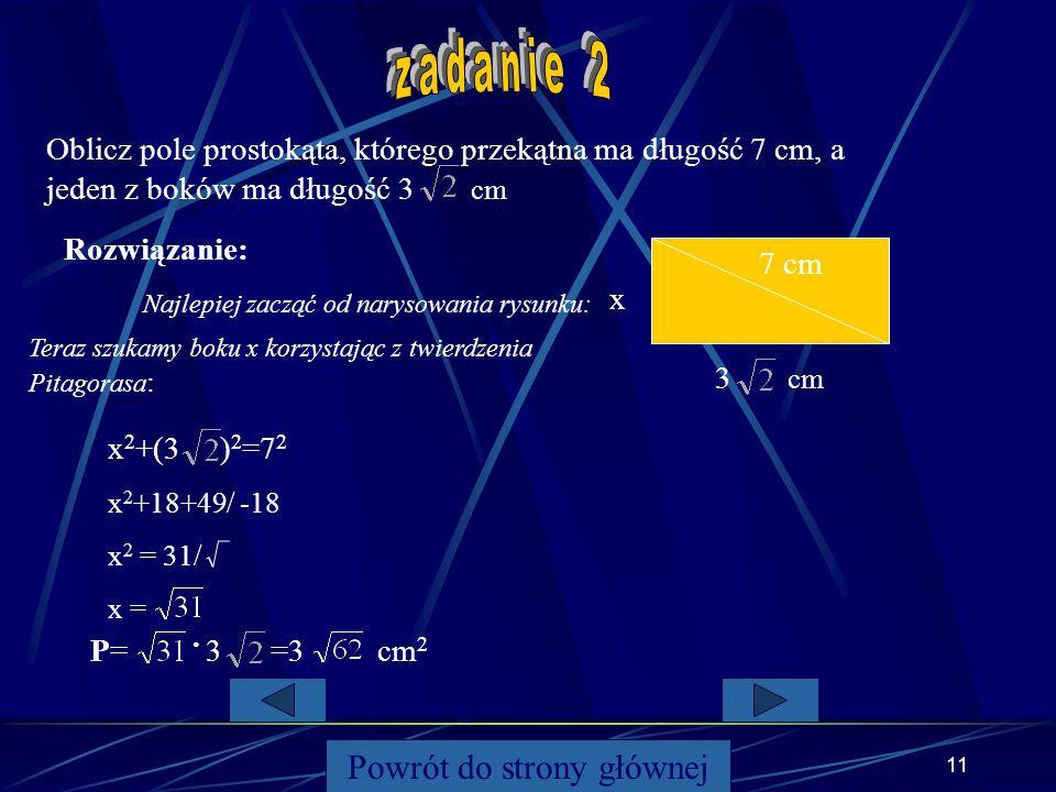 10 Powrót do strony głównej 12 x99 6 W trójkącie równoramiennym ramiona mają długość 9, a podstawa ma długość 12. Jaką wysokość ma ten trójkąt? wysoko