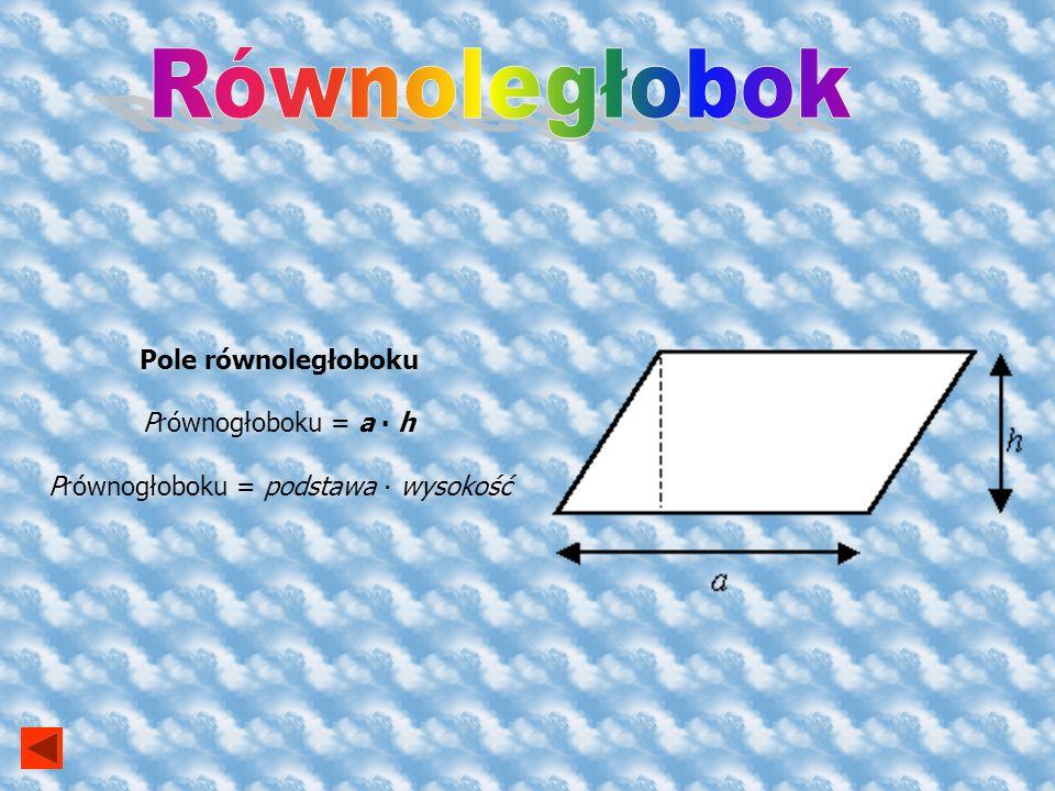 Pole kwadratu P kwadratu = a 2 P kwadratu = długość boku do kwadratu