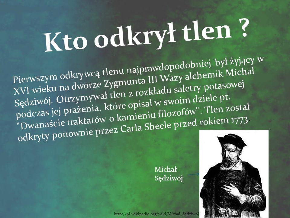 Tlen http://www.chemia-gimnazjum.info Łacińska nazwa – oxygenium