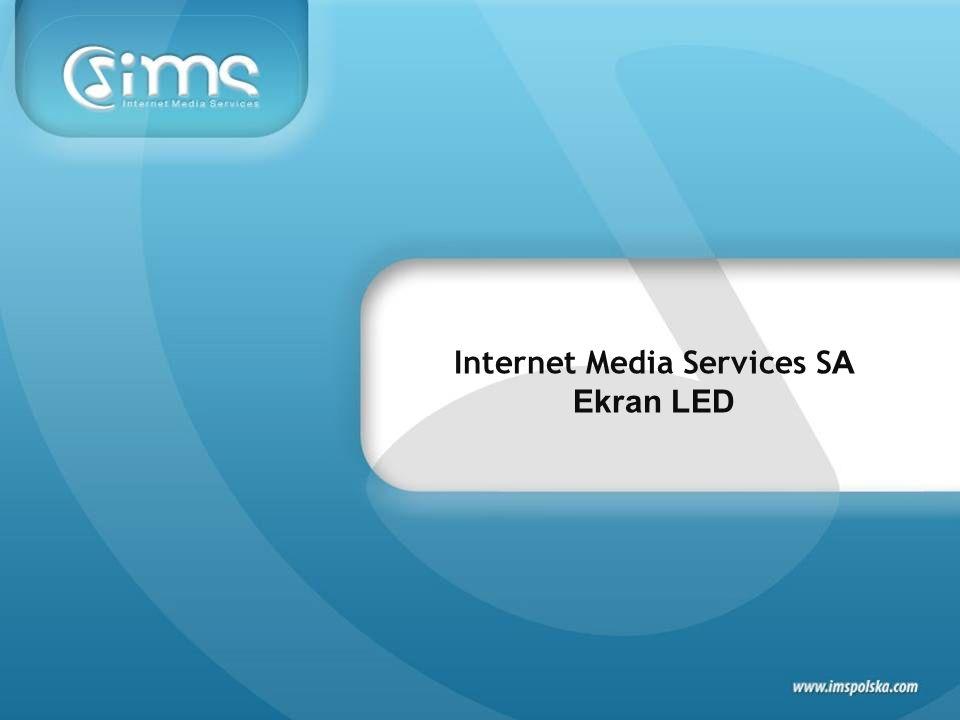 Reklama emitowana na EKRANIE LED umieszczonym na rynku Centrum handlowego Manufaktura