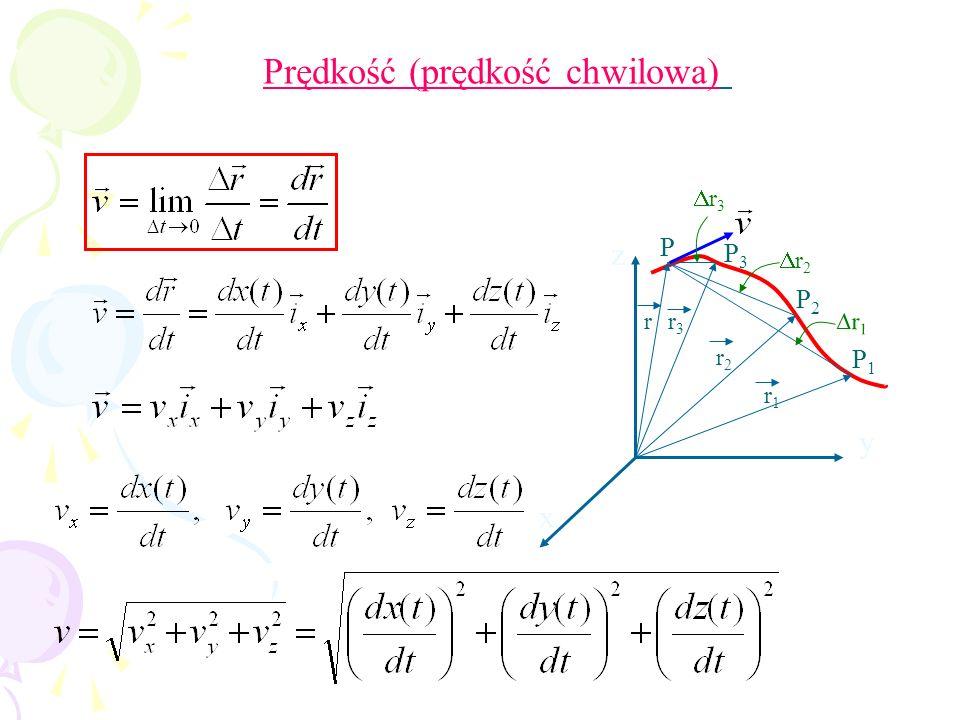 r1r1 r2r2 r3r3 P1P1 P2P2 P3P3 P x y z r r 1 r 3 r 2 Prędkość (prędkość chwilowa)